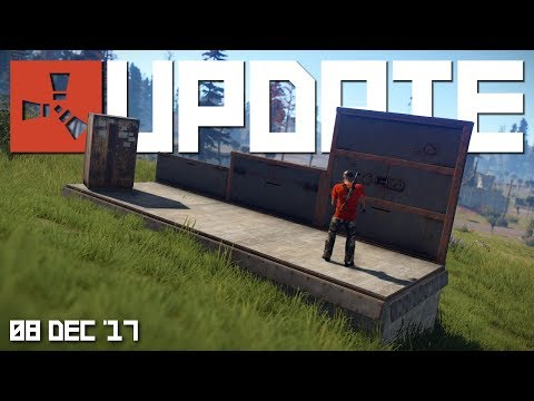Building 3.0, new half walls, upkeep, junkyard | Rust update 08th December 2017