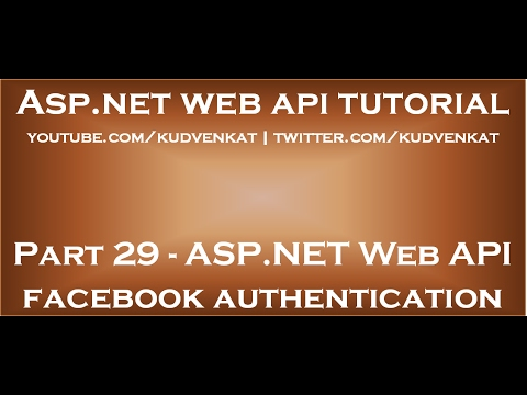 ASP NET Web API facebook authentication