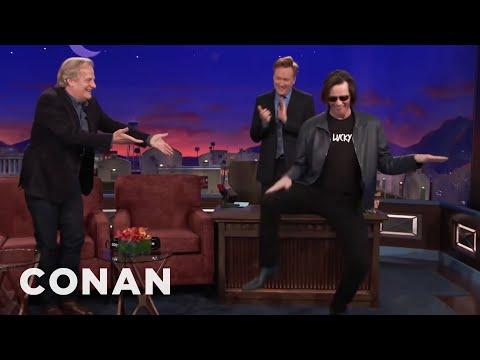 Jim Carrey Crashes Jeff Daniels' CONAN Interview  - CONAN on TBS