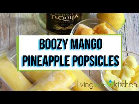 Boozy Mango Pineapple Popsicles
