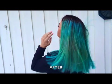Turquoise Green hair dye tutorial