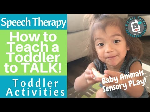 Speech Therapy for Toddlers - How to Teach a Toddler to TALK! Toddler Activities - Baby Animals