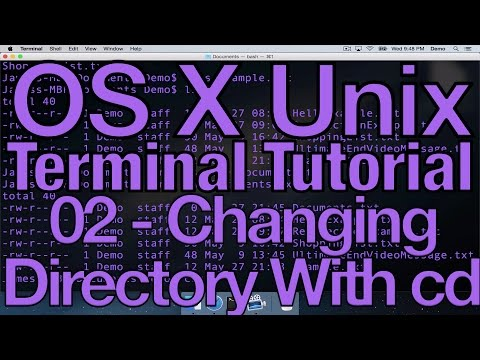 OS X Unix Terminal Tutorial 02 - Changing Directory with cd