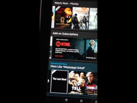 Downloading movies on Kindle Fire