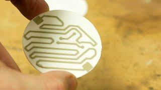 Underwater laser cutting and silver sintering to make ceramic circuit boards