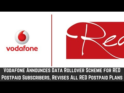 Vodafone Announces Data Rollover Scheme for RED Postpaid Subscribers, Revises All RED Postpaid Plans