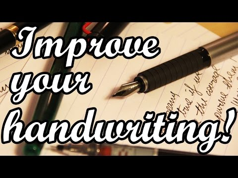 Improve you handwriting just by holding your pen differently! Better cursive handwriting in minutes.