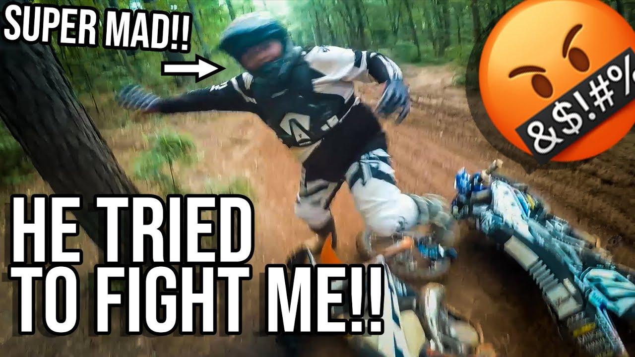 Dirt biker starts a FIGHT WITH ME! Durham town PT. 2