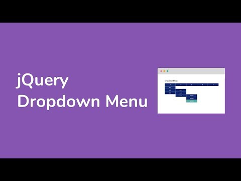 How to Create a Dropdown Menu using jQuery