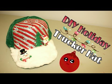 Extreme Holiday Trucker Hat || DIY COSTUMES || Santa Hat, Winter Wonderland