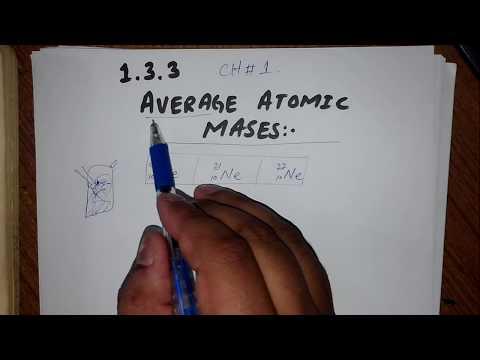 AVERAGE ATOMIC MASS 1.3.3 CLASS 11  CHE