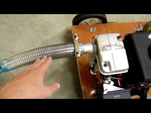 Quiet that Generator with a Muffler and an Automotive Exhaust - DIY 12V Generator Charger 8