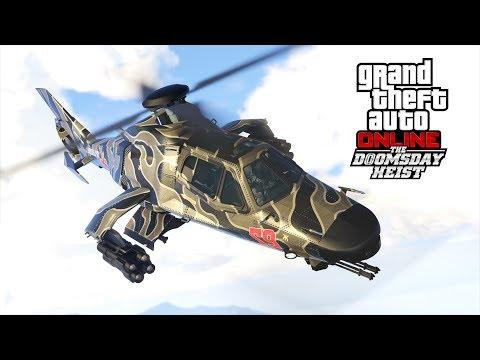 GTA 5 Online The Doomsday Heist DLC - NEW Khanjali tank, Akula helicopter, Stromburg Submarine Car &