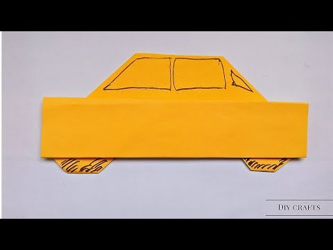 How to Make A Origami Car - Origami Car Making Instructions for Beginners - Make Simple Origami Cars