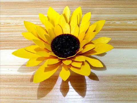 DIY# 64 Sunflower Made Of Recycled Paper Cups Best Out of Waste