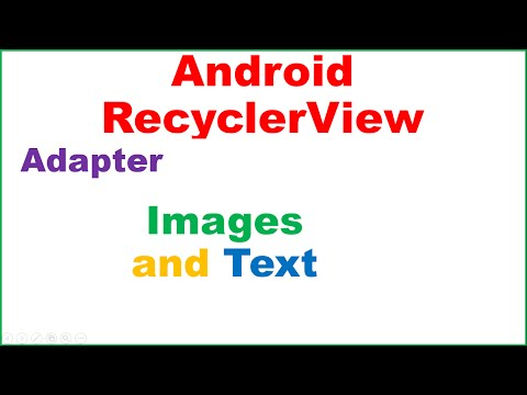 Android RecyclerView Ep.02 : Adapter : With Images and Text