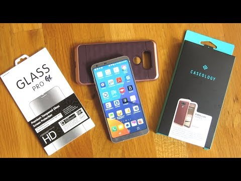LG G6 - Screen Protector Perfect Fit and Caseology Parallax Case