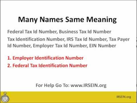 How To Get An EIN / Tax Id Number