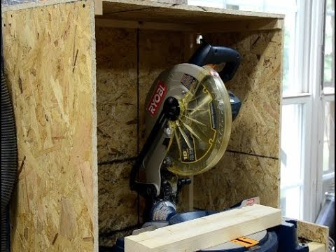 Small miter saw station with dust collection