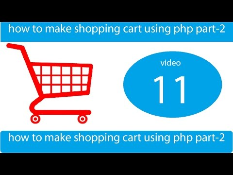 how to make shopping cart with cookies and mysql - part 2