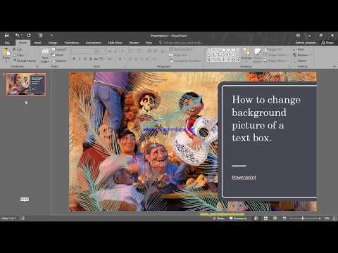 Change text box background picture PowerPoint 2016