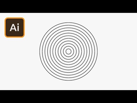 Concentric Circles in Illustrator | 2 Minute Tutorial