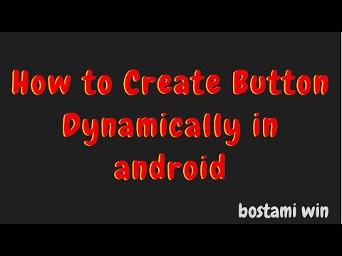 how to create button dynamically in android