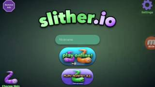 Παίζω slither.io(part 1)