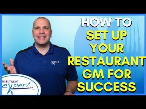 Restaurant Management Tip - How to Set Up Your Restaurant GM for Success #restaurantsystems