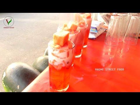Watermelon Salad Juice   How to Make WATERMELON SALAD with MILK   Summer Street Food