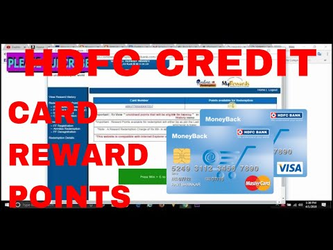 How To Convert Reward point to cash on  hdfc credit card