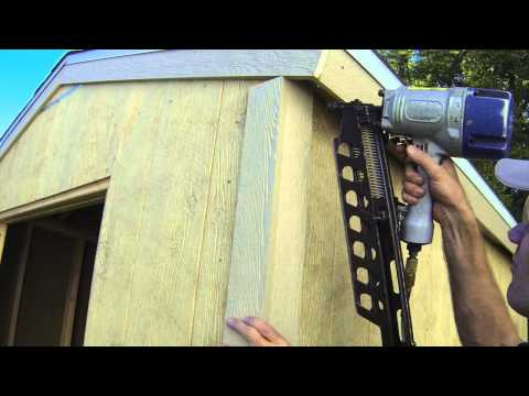 How To Build A Shed - Part 8 - Exterior Trim Install