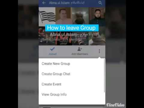 How to leave Facebook Group in Android