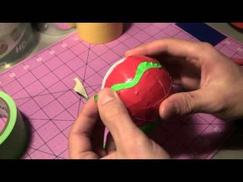 How to make a Duct Tape Christmas ball ornament!
