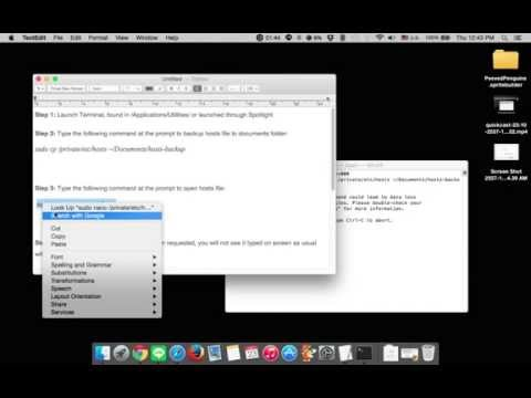 How to Edit Hosts file in Mac OS X 10.10 Yosemite
