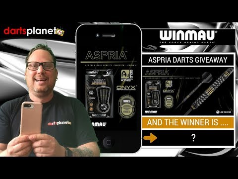 ASPRIA DARTS WINNER IS ........ + 10 X TICKET GIVEAWAY FOR GRAND MASTERS DARTS ANNOUNCEMENT