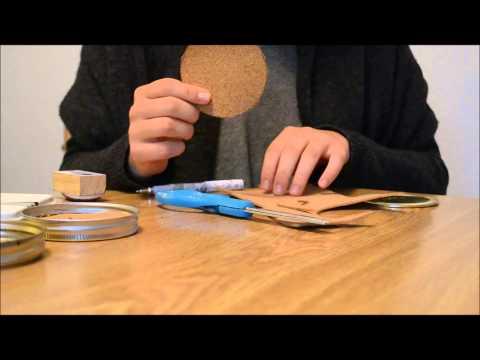 DIY Rustic Mason Jar Coasters