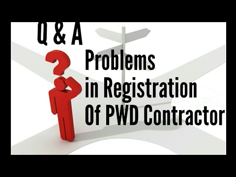 Problems in Registration of PWD Contractor Licence l YouTube Video l Q & A l Hindi l Suraj Laghe