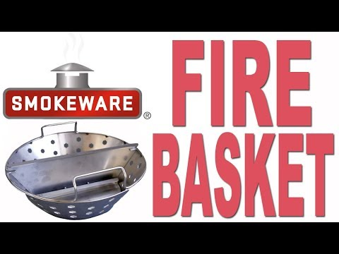 Smokeware's Fire Basket for the Big Green Egg