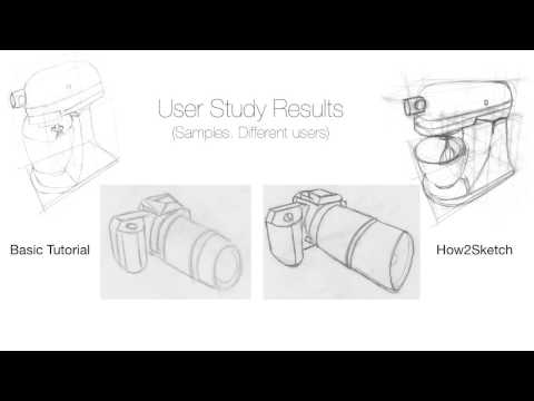 How2Sketch: Generating Easy-To-Follow Tutorials for Sketching 3D Objects
