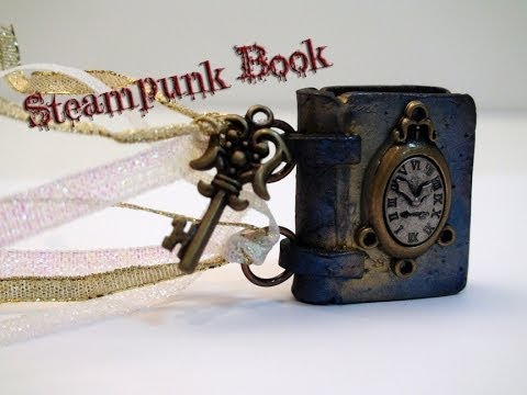 DIY: How To Make a Miniature Steampunk Book with Polymer Clay