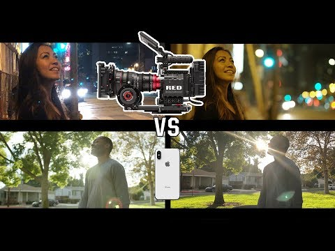 iphone X vs RED - Hollywood Movie Camera
