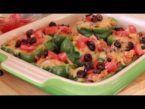 Chicken Enchilada Stuffed Pepper
