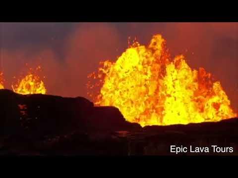 Big Island Volcano Eruption Lava Flow in Hawaii 2018