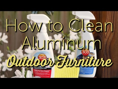 How to Clean Aluminum Outdoor Furniture   Patio Furniture Maintenance