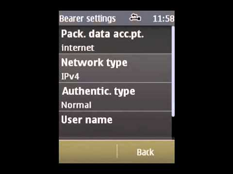 How to: Set up an AT&T Access Point to a Nokia S40 Phone