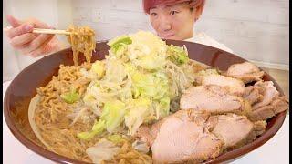 自宅でラーメン二郎10人前食べきるまで帰れません!!