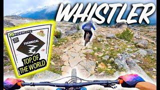 Descending From the Highest Point In Whistler Bike Park