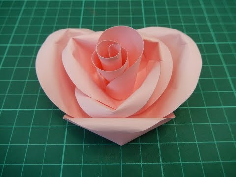 Heart Shaped Paper Rose Tutorial