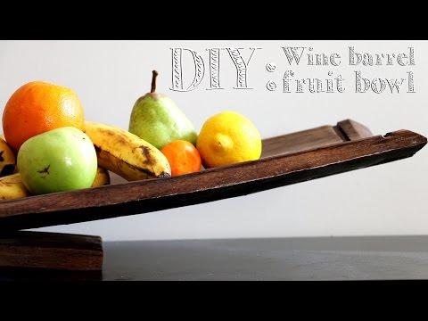 DIY Wine Barrel Fruit Bowl